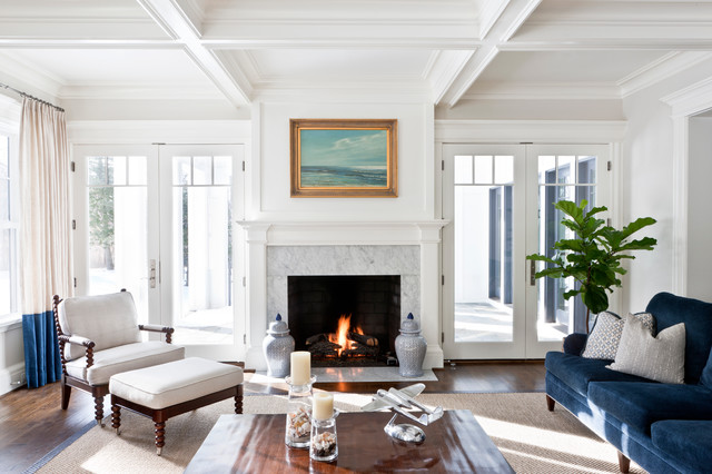 Mclean house coastal living room dc metro by for Christine huve interior designs