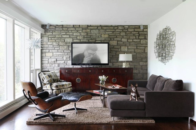 Mcm Redesign Midcentury Living Room St Louis By