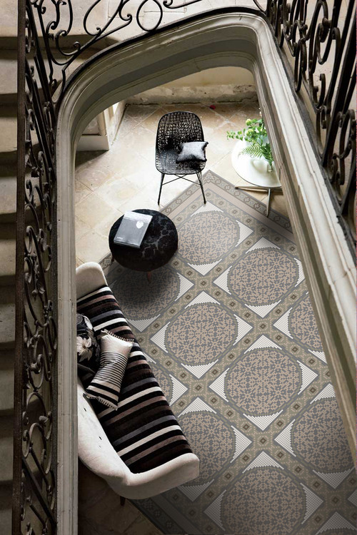 Medallion Floor Pattern in Artaics Rug Collection contemporary living room