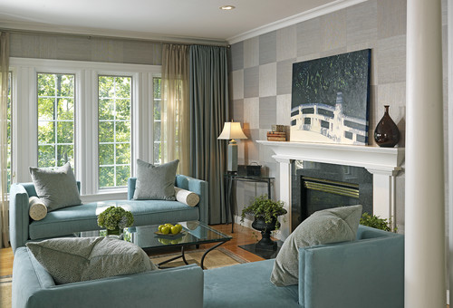 Medfield Residence eclectic living room