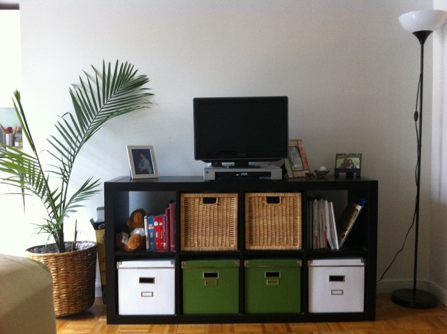 Media Center Contemporary Living Room Boston By Design Cents With Suz