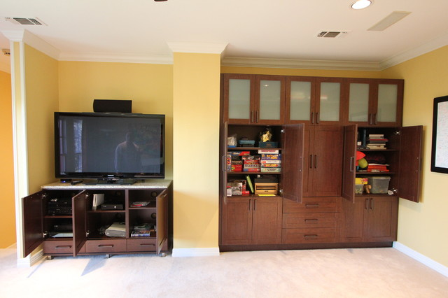 media centers storage eclectic living room dallas