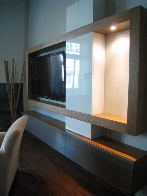 Media Wall Composition modern-living-room