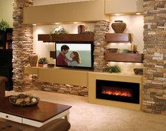 Media Wall contemporary-living-room