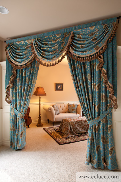 Medici Sapphire Swag Valance Window Treatment By Traditional L