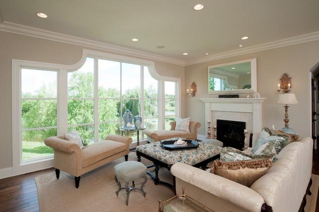 Medina Luxury Home Victorian Living Room Minneapolis
