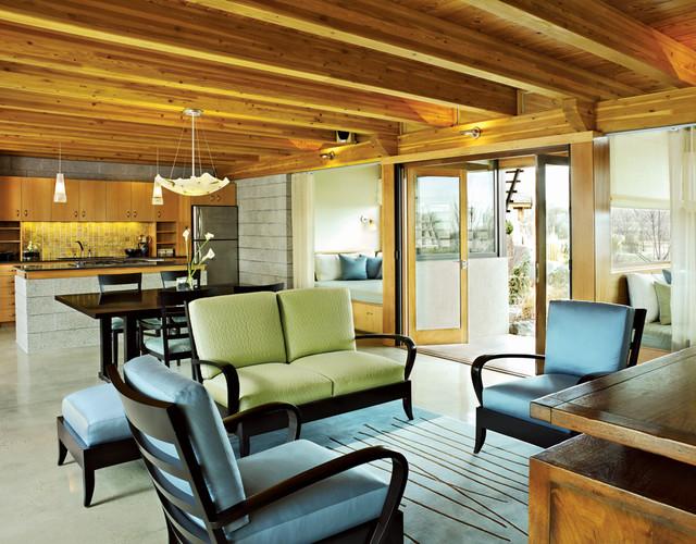 meditation pavilion contemporary-living-room