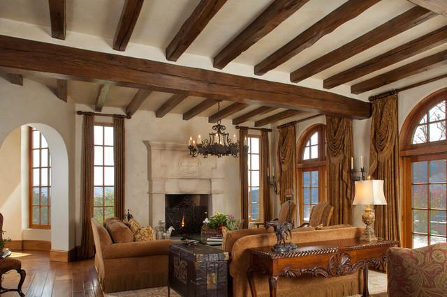 Mediterranean equestrian estate carmel california for Mediterranean living room ideas