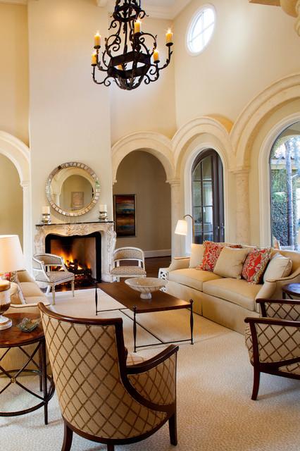 Mediterranean inspired villa mediterranean living room dallas by pulliam morris interiors for Mediterranean inspired living room