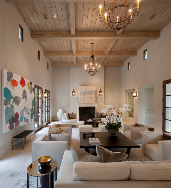 Mediterranean Style Living Room: Interior