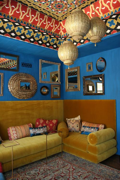 Wine Lounge mediterranean living room