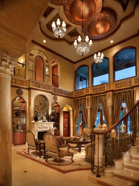 Raj private residence mediterranean living room for Mediterranean living room ideas