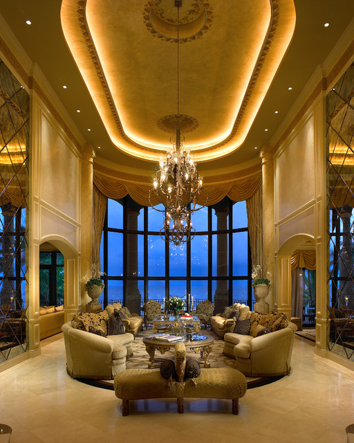 Coral Gables Mansion Mediterranean Living Room Miami
