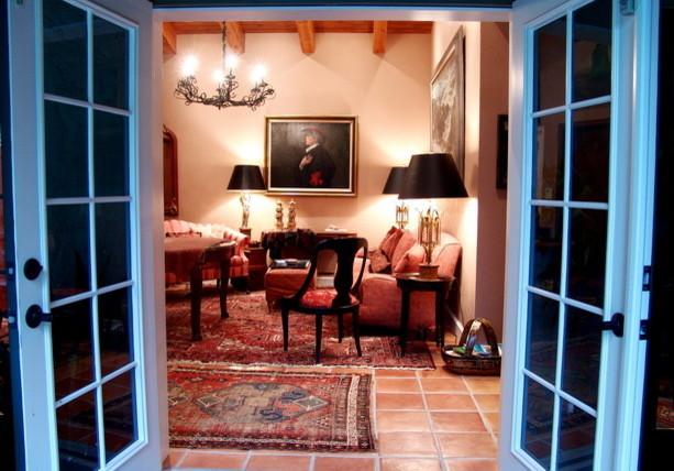 Mediterranean Patio and Art Collection Addition mediterranean-living-room