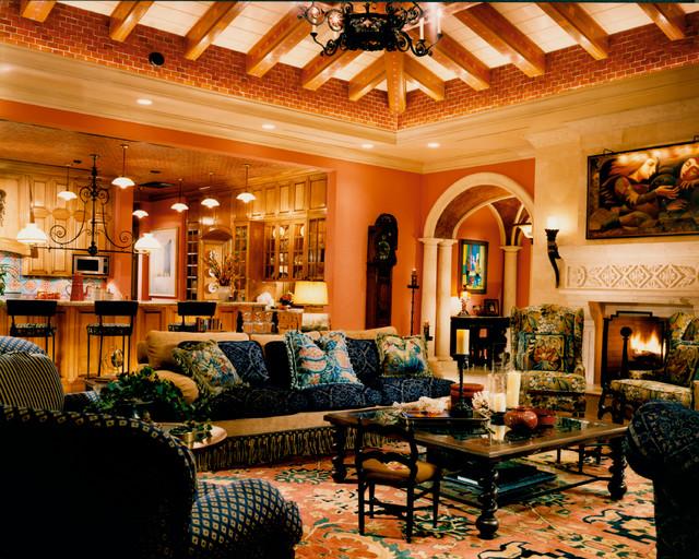 Mediterranean Revival mediterranean-living-room
