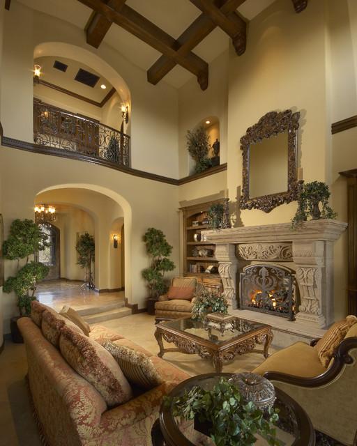 Mediterranean Style Living Room: Mediterranean Scottsdale High Desert