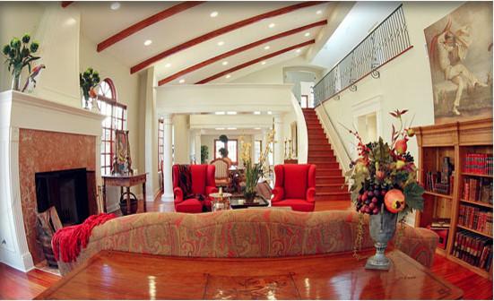 mediterranean style santa monica mediterranean living room
