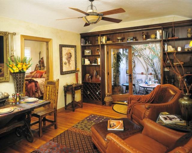 Mediterranean villa and mexican colonial casita in la for Living room la jolla