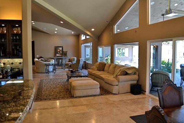 Mediterranean Villa living room addition and remodel