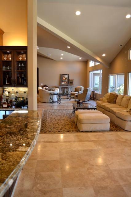 Mediterranean Villa living room remodel and addition