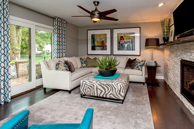 Melanie Drive   70s Ranch Modern Remodel Transitional Living Room