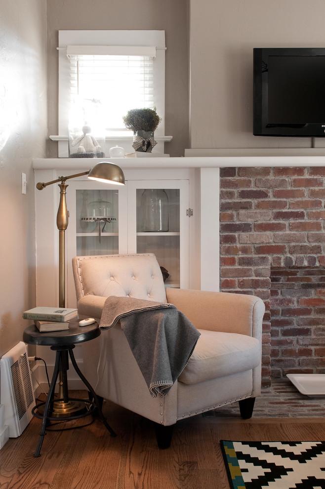 Living room - craftsman living room idea in Salt Lake City