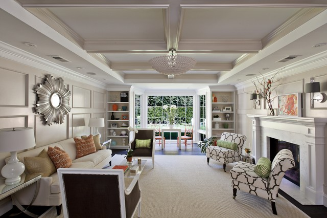 Nice Inspiration For A Large Contemporary Formal And Enclosed Dark Wood Floor Living  Room Remodel In San