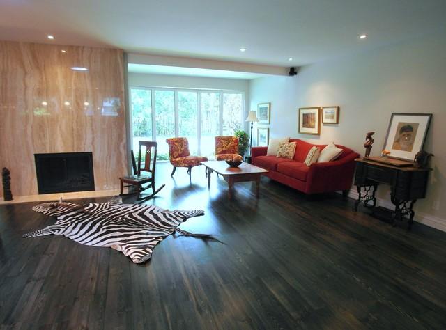 Merali Split Level Contemporary Living Room Ottawa