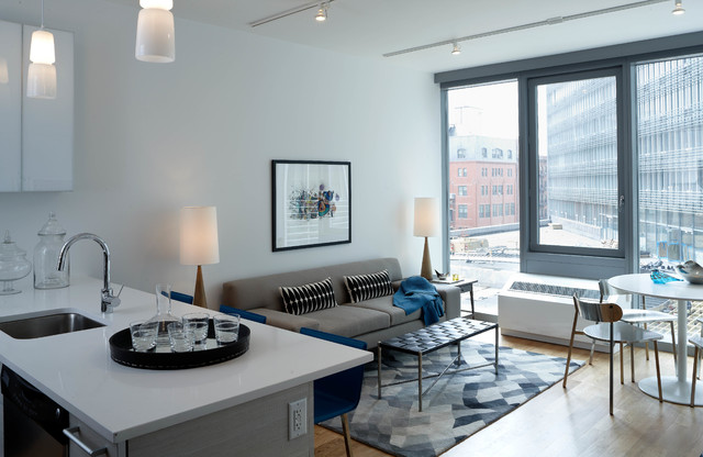 Mercedes House Midtown Modern Interior Design 1 Bedroom Apartment Modern Living Room