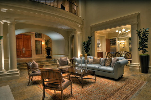 Mercer Island Estate mediterranean-living-room
