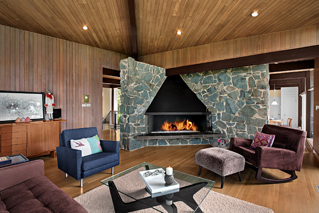 Mercer Island - Midcentury Modern midcentury-living-room