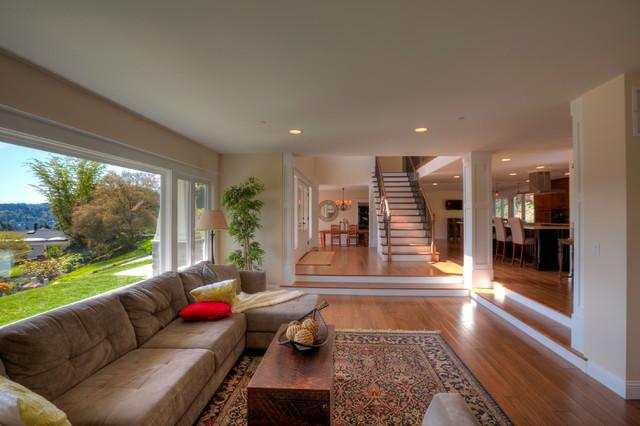 Mercer Island RemodelAddition Traditional Living Room