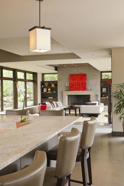 Mercer Island Residence contemporary-living-room