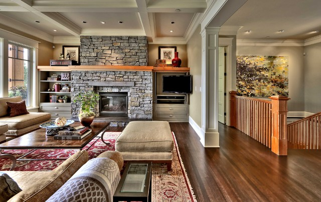 Mercer Island Waterfront Estate traditional-living-room