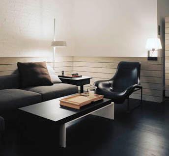 Mercer Street Loft modern-living-room