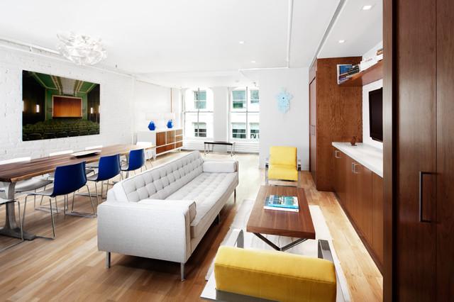 Mercer street residence modern living room new york for Modern home decor llc
