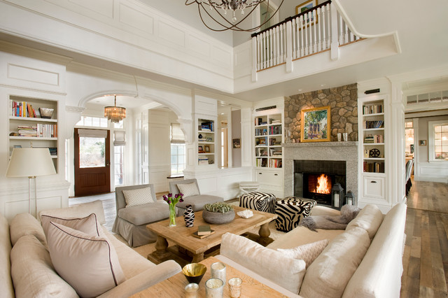 Meriam Hill House - Traditional - Living Room - Boston - by Colin ...