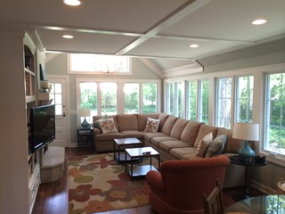 Meridian Kessler Cape Cod Style Whole Home Renovation Family Room Transitional Living