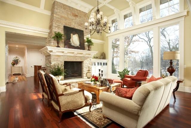 Merilane Avenue Residence 1 Living Room traditional-living-room
