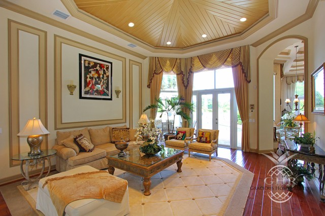 Living room - traditional living room idea in Miami