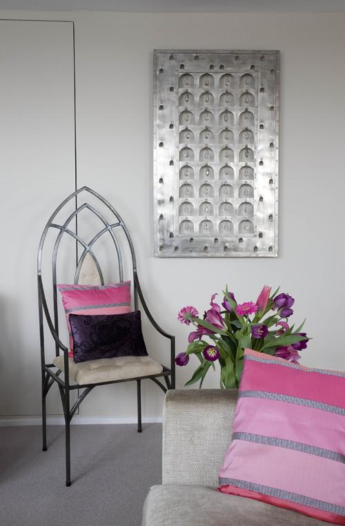 Metal and crystal wall hanging