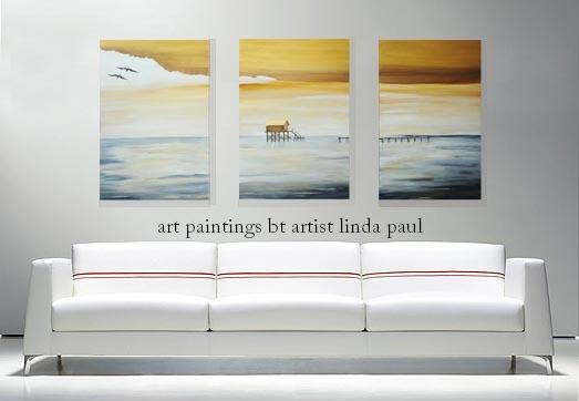 Metaphor Set Of 3 Contemporary Canvas Art Prints Over