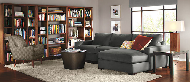 Metro Sectional by R&B modern-living-room