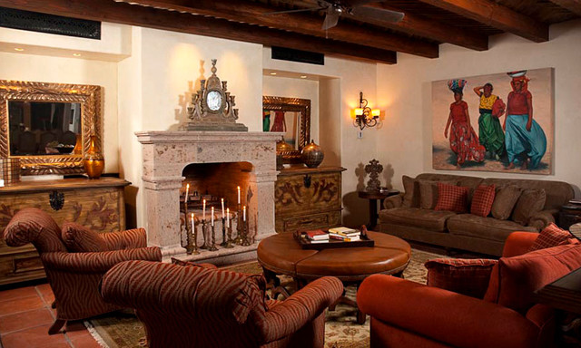Mexican Hacienda At Cabo Mediterranean Living Room Mexico City