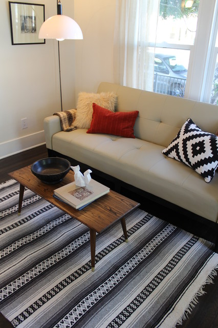 Mexican Style Rug And Navajo Design Pillow Eclectic