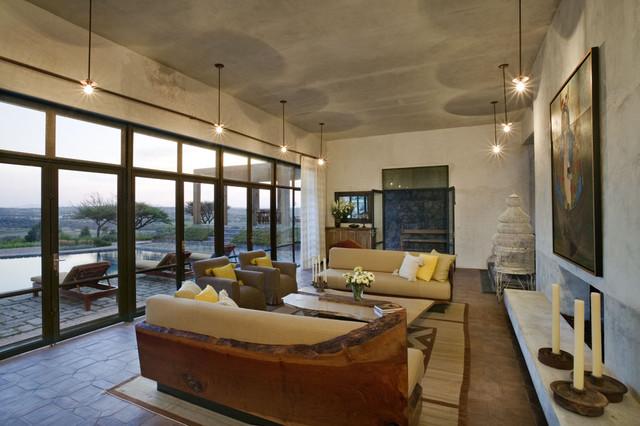 Mexico House mediterranean-living-room