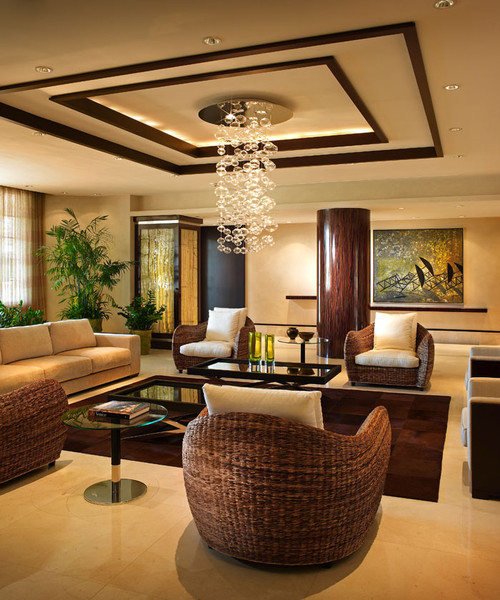 Modern Interior Decoration Living Rooms Ceiling Designs: Love The False Ceiling Design... Simple Yet Classy