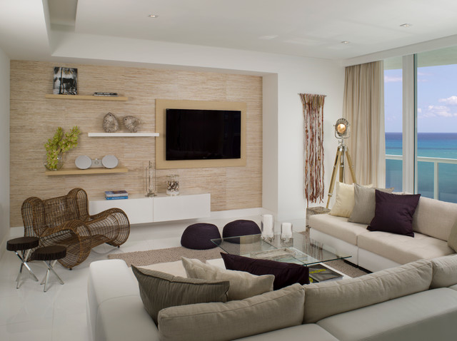 Living Room Miami Stunning Miami Beach Penthouse  Modern  Living Room  Miami . Design Inspiration