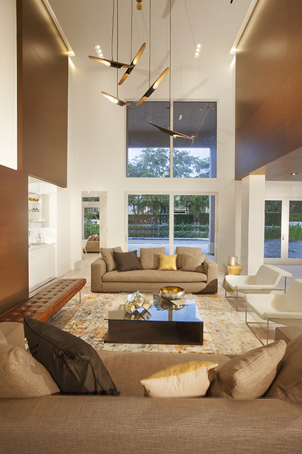 Miami Interior Designers - Architectural Volume by DKOR Interiors - Contemporary - Living Room ...