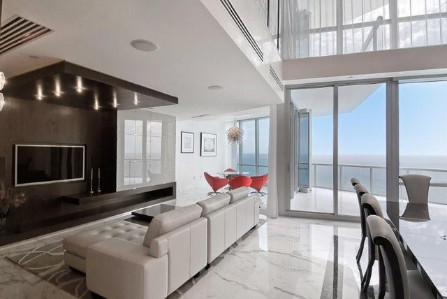 miami luxury condo contemporary living room